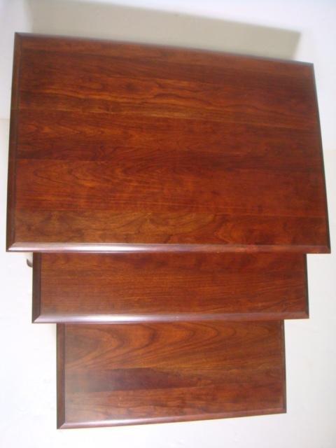 Three PENNSYLVANIA HOUSE Cherry Nesting Tables: - 2