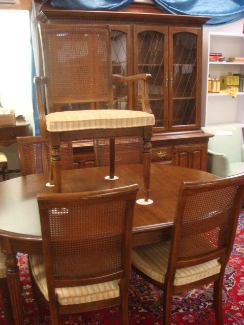 ETHAN ALLEN Classic Manor Maple Dining Rooms Set: : Lot 0696