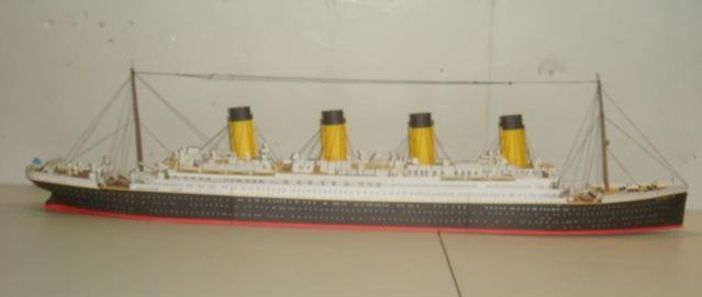 Papercraft Model of White Star TITANIC, 1/250 Scale:
