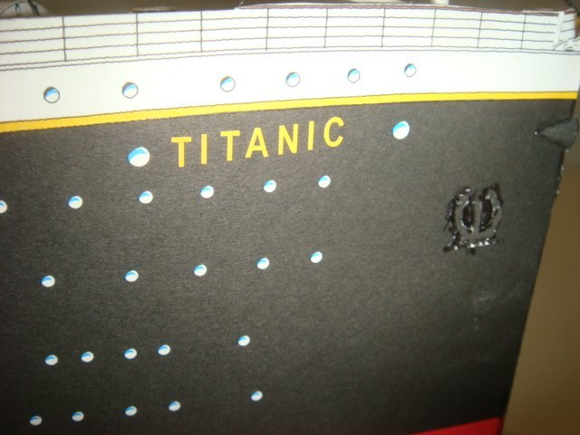 Papercraft Model of White Star TITANIC, 1/250 Scale: - 7
