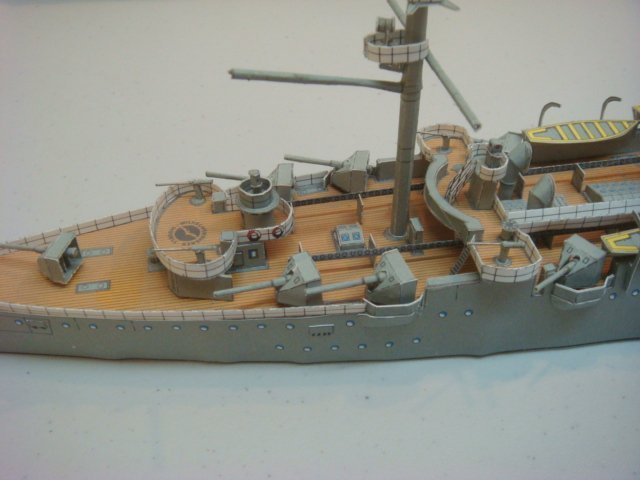 Two Papercraft Models of World War I Warships: - 3
