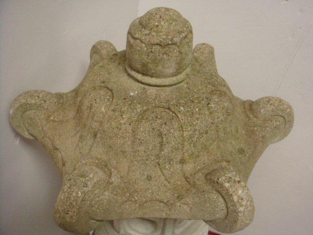Concrete Pagoda Form Garden Lantern: - 4