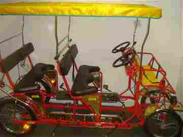 Delfino Ciclofan Surrey Quadcycle, 6 Adults + 2 Youth: