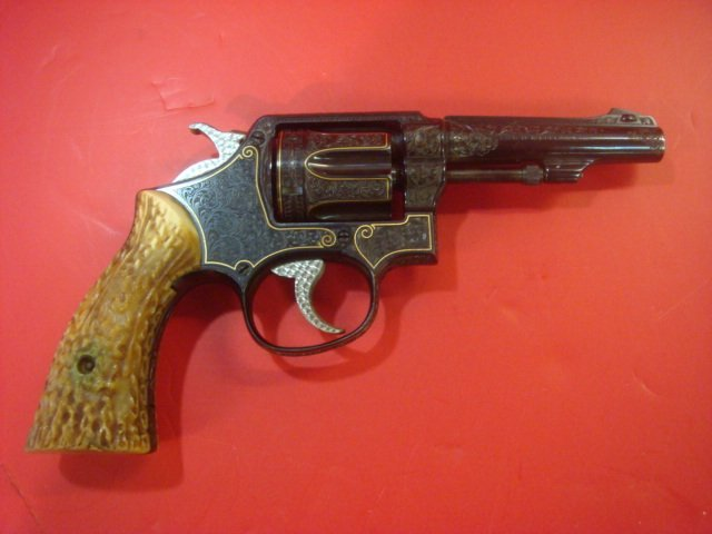 SMITH & WESSON, Engraved by KURT JAEGER, Model 10:
