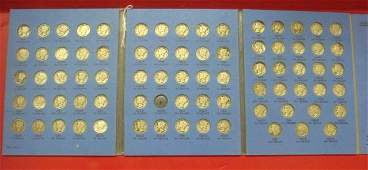 Collection of 76 90% Silver MERCURY DIMES (1916-1945):