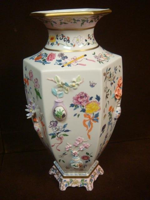 """Franklin Mint Vase of """"One Hand Flowers"""";"""