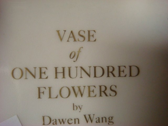 """Franklin Mint Vase of """"One Hand Flowers""""; - 3"""