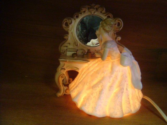 ARDALT Girl Lamp and JOSEF ORIGINALS Lipstick Holder: - 3