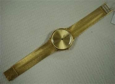 Man's PIAGET 18KT Yellow Gold Watch, Mesh Band: Clasp