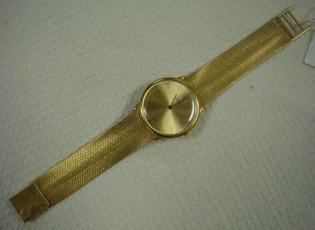 Man's PIAGET 18KT Yellow Gold Watch, Mesh Band: Clasp