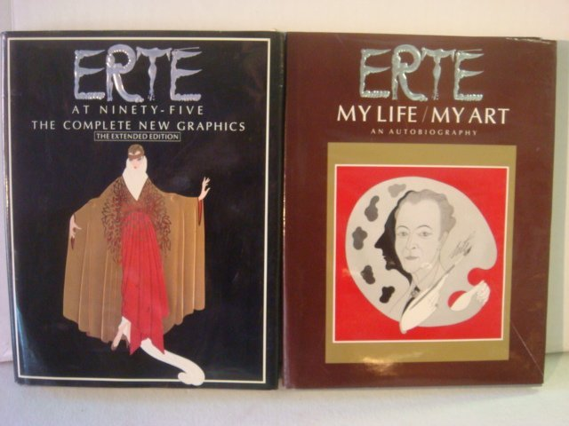 Two Coffee Table Books of Erte Illustrations: ERTE, My