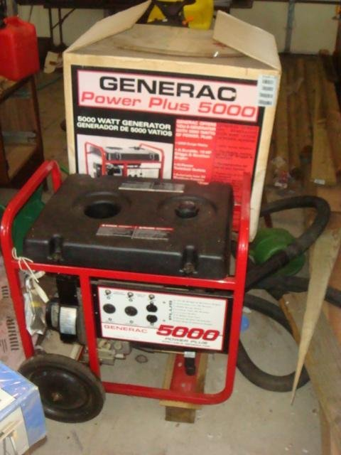 GENERAC 5000+ Power Plus Portable Generator, NIB:
