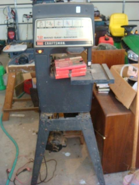"CRAFTSMAN 12"" Band Saw/Sander with Table:"