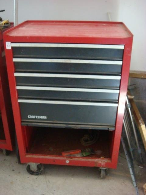 CRAFTSMAN Five Drawer Rolling Tool Chest & Auto Tools: