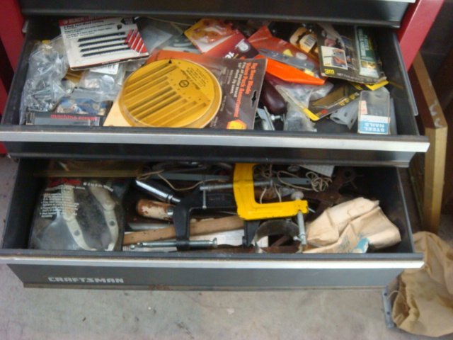 CRAFTSMAN Five Drawer Rolling Tool Chest & Auto Tools: - 3