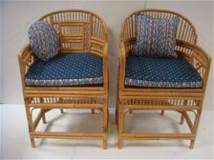 Pair THOMASVILLE Chinese Chippendale Revival Arm