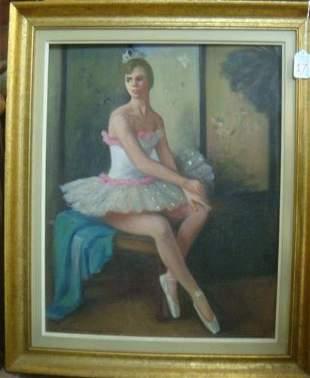 MARGARET FITZHUGH BROWNE, Ballerina Oil on Canvas: