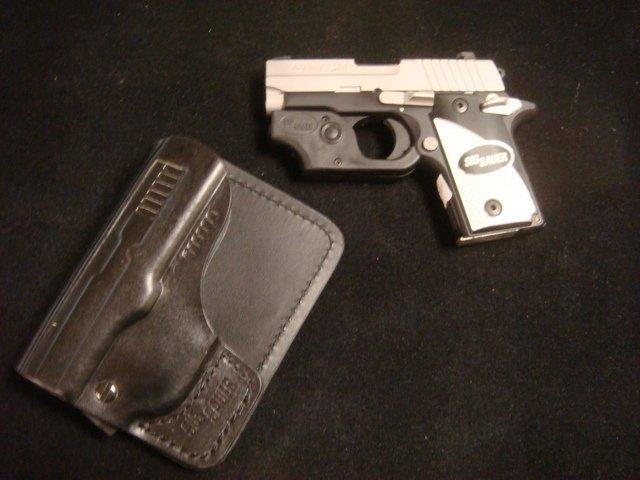SIG SAUER P238 Semi Auto Pistol with Laser Sight - 2