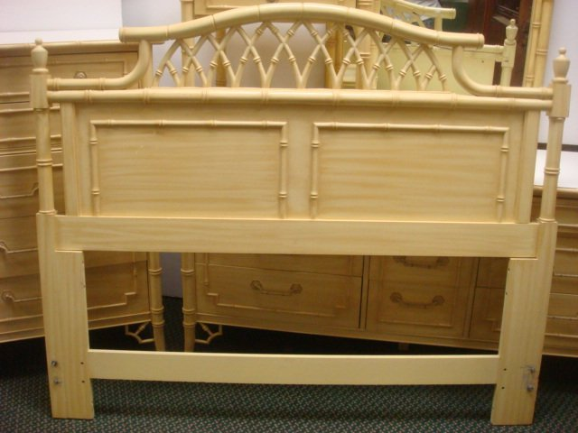 """4Pc """"Allegro"""" by THOMASVILLE Faux Bamboo Bedroom Set: - 6"""