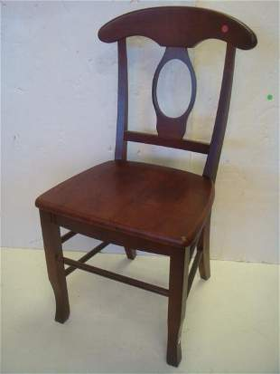 Modern Side Chair with Mahogany Finish: