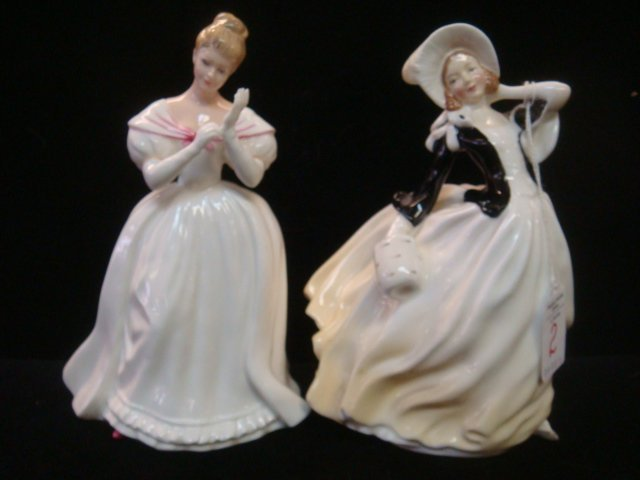 Two Ceramic ROYAL DOULTON Lady Figurines: