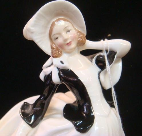 Two Ceramic ROYAL DOULTON Lady Figurines: - 5