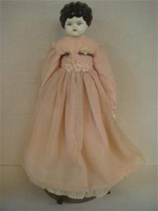 19thC Low Brow German China Head Doll: