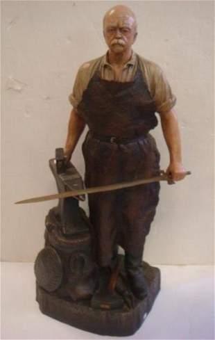 Statue of OTTO VON BISMARK as a Blacksmith: