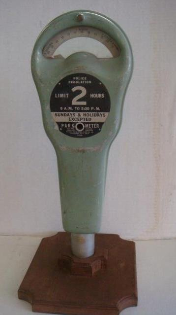 Park-O-Meter on Wooden Stand:
