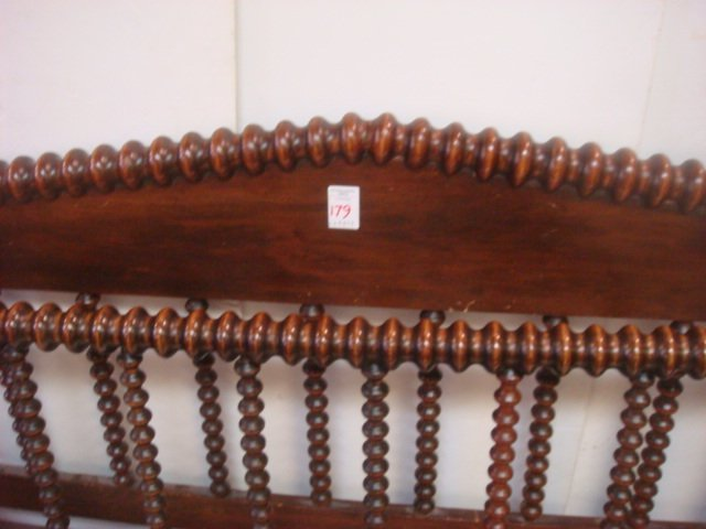 19thC. Full Size Jenny Lind Spool Bed with Rails: - 3
