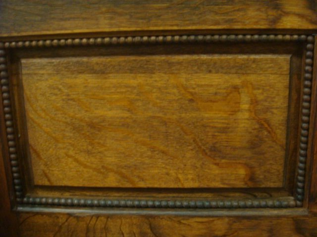 19th C. Oak Hall Bench with Storage: - 4