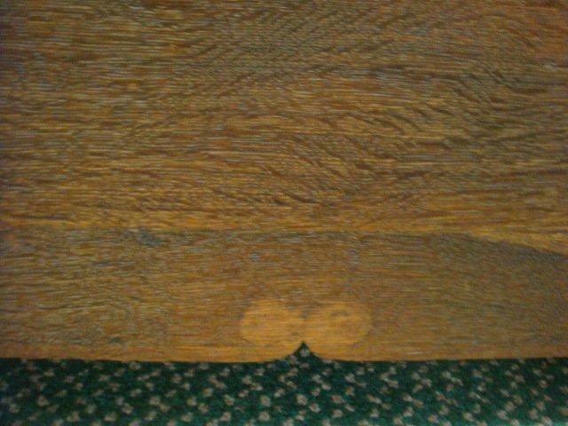 19th C. Oak Hall Bench with Storage: - 5