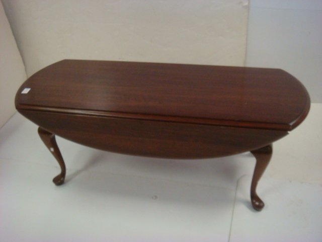Cherry Queen Anne Drop Leaf Coffee Table: