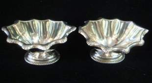 Pair of REED  BARTON Sterling Silver Footed Bowls