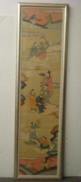 19thC Woven Pictorial Chinese KESI Tapestry: