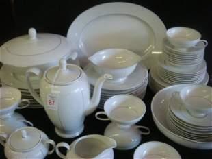 63 Pieces of ROSENTHAL White Velvet Dinnerware: