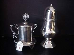 Silverplate Individual Teapot & Castor