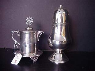 Silverplate Over Brass Teapot