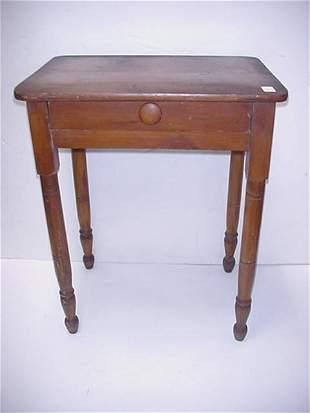 Single Drawer Pine Plank Top Desk