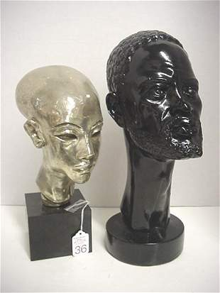 Artstone and Austin Products African Male Busts