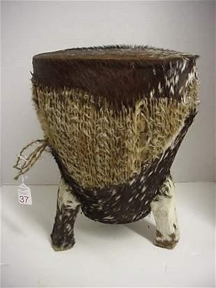 Animal Pelt African Drum