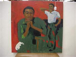 Unframed Male Painting Oil On Canvas