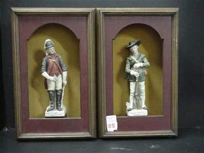 82: Pair of Revolutionary War Figurines:
