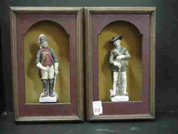 Pair of Revolutionary War Figurines