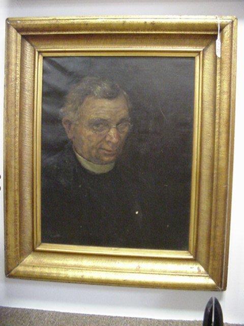 416: Nora Houston Framed Oil on Canvas Portrait: