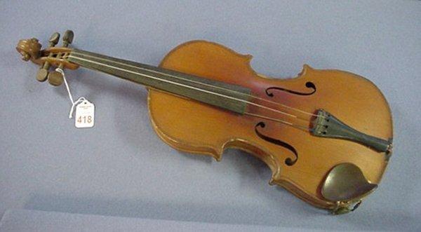 418: 1916 Lyon and Healy Eureka Violin: