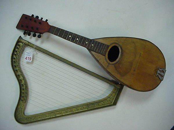 419: Student Harp and Midlar Lute: