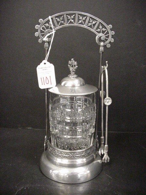 1101: Boston Silver Co. Pickle Caster: