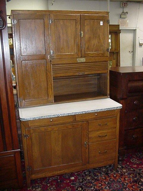 1188: Oak White Clad Kitchen Cabinet with Porcelain Top