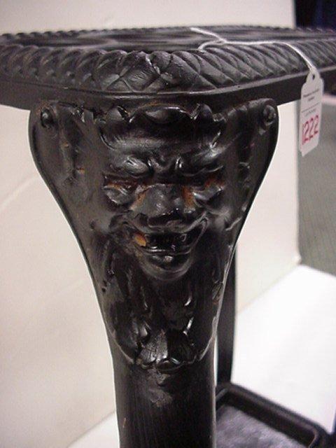 1222: Vintage Wrought Iron Umbrella Stand: - 2